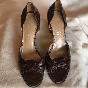 Franco sorto brown heels size 8